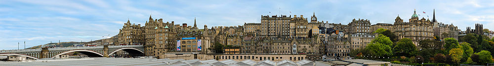 Edinburgh Old Town Skyline Panorama