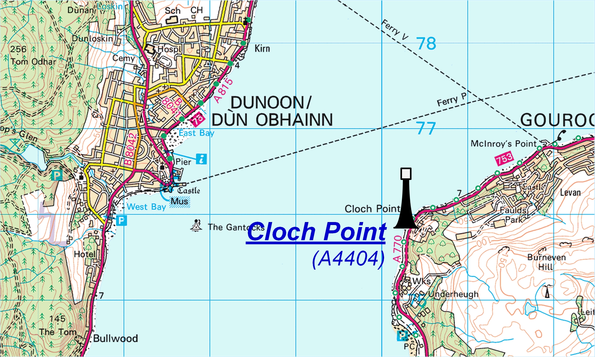 Cloch Point map